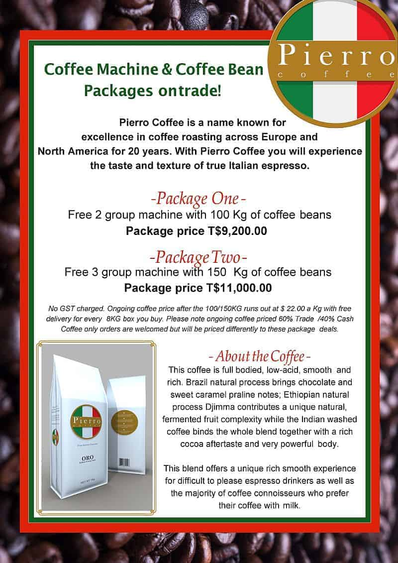Coffee Machines by Barter Card